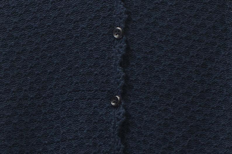 Women cardigan Carroll Reed Women sweater Vintage dark blue cardigan Cotton cardigan Women blue cotton sweater
