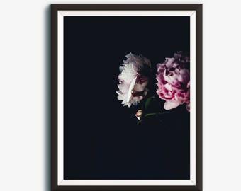 Peony Print, Flower Photography, Flower Art, Pink Flower, Flower Wall Art, Minimalist Print, Gift Ideas, Flower Art Print, Printable Art