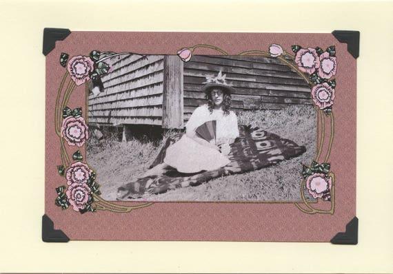 Picnic Curls Vintage Lgbtq Card Trans Mothers Day Etsy