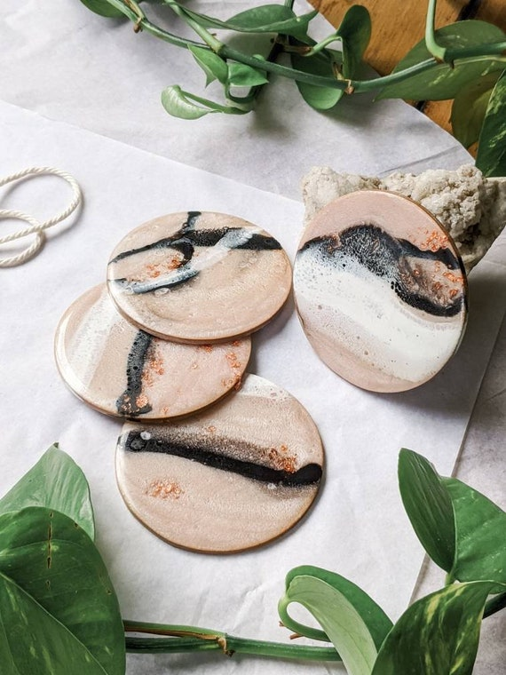 Resin Ceramic Drink Coasters drink coaster Christmas Gifts Housewarming gifts Gifts for her Ocean Coasters coffee table coasters