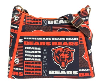 89aec59991a Chicago Bears Purse NFL Handbag / Shoulder Purse / Bling Option