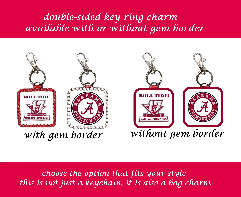 Alabama Crimson Tide Key Ring double-sided charm