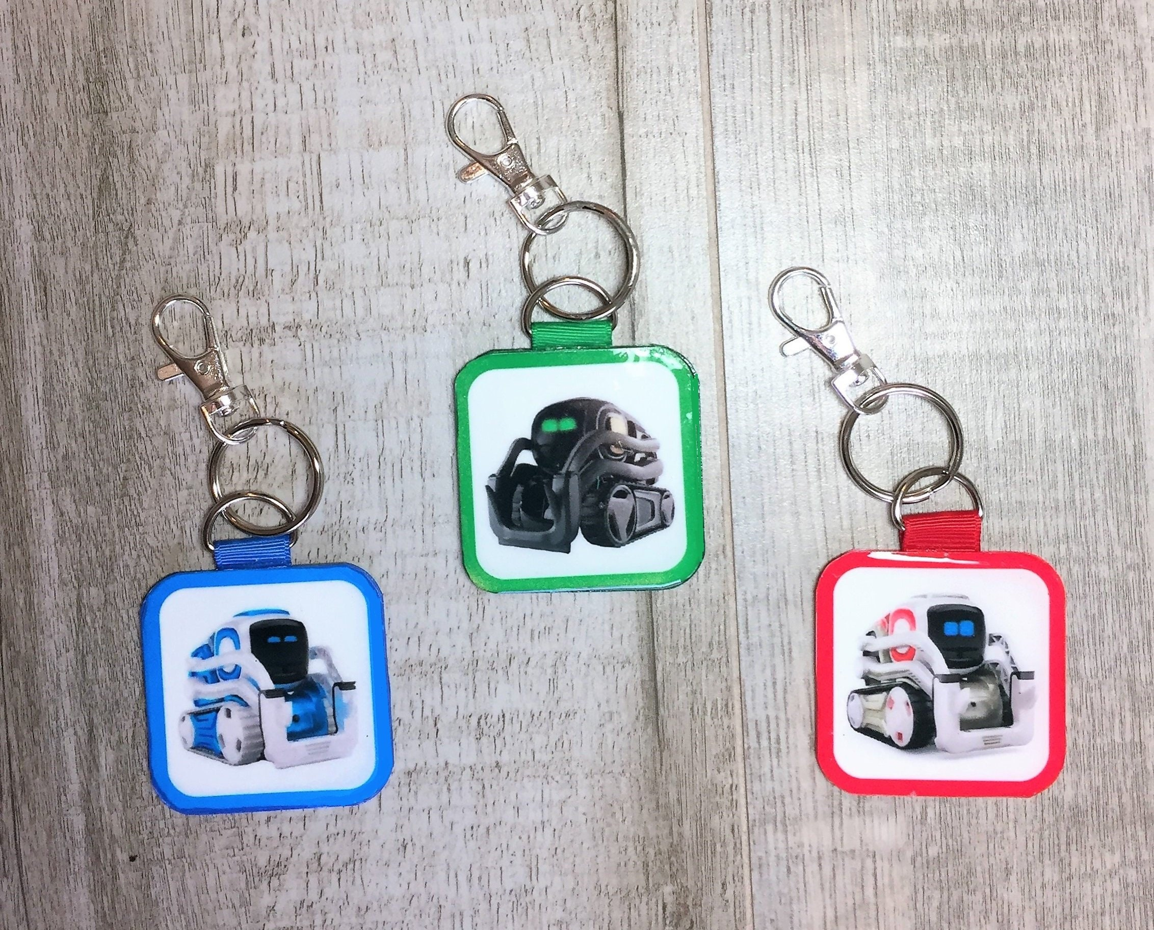 Cozmo or Vector 2-sided Key Ring Charm