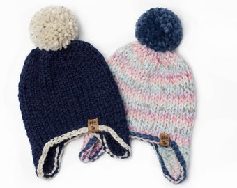 48ab54dcb Child knit hat ear flaps