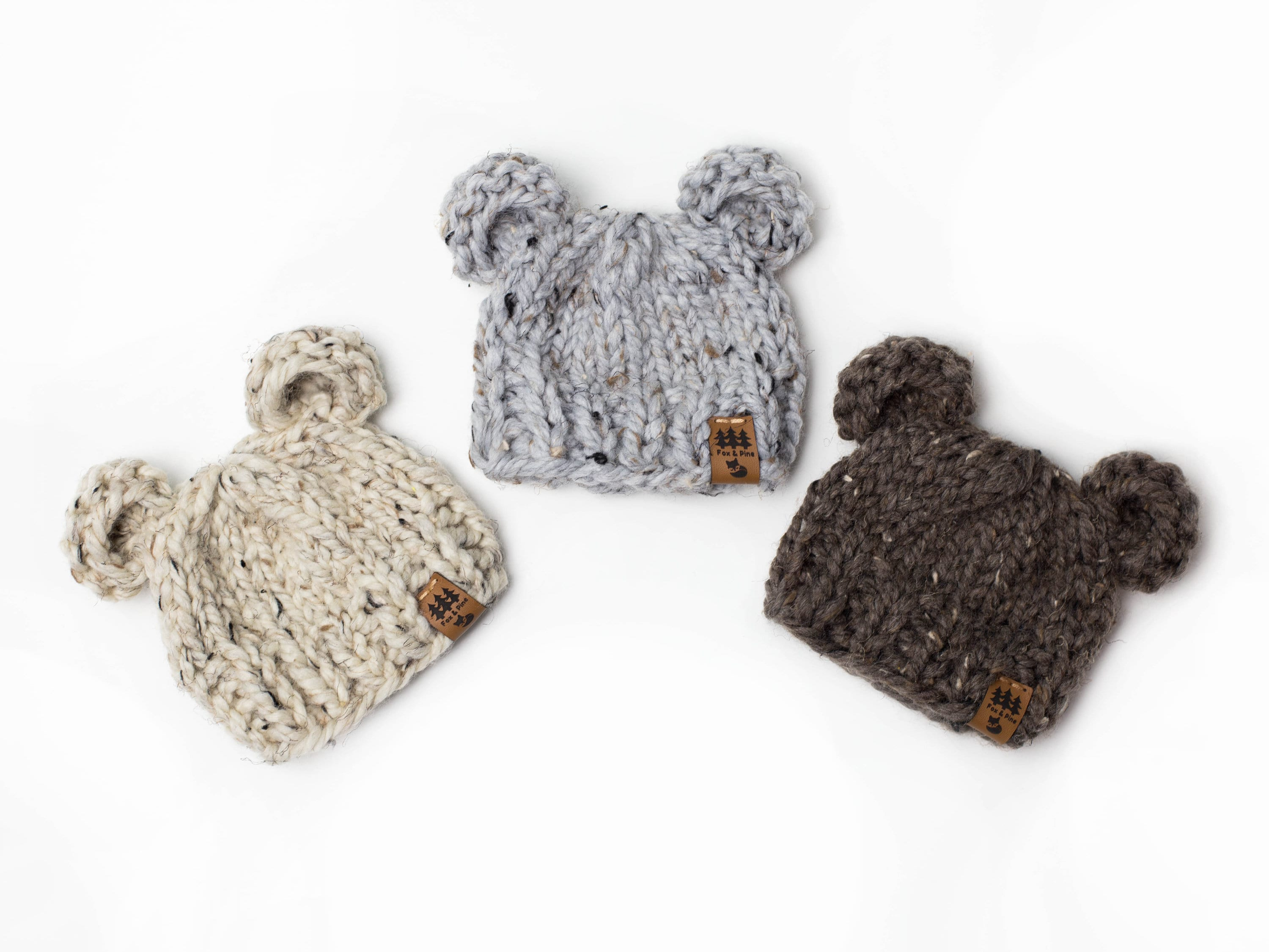 bf5e1af8d Bear Ears Hat - Chunky Knit Photo Prop - Newborn, Baby, Child - Wooden  Button