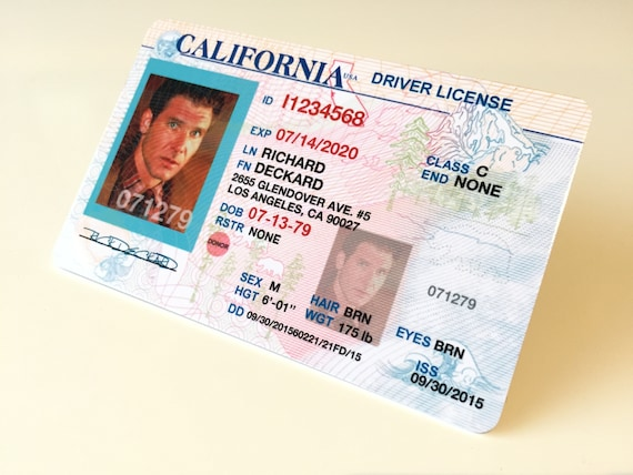 Card California Etsy Rick Runner 2019 Deckard Id Wallet Blade