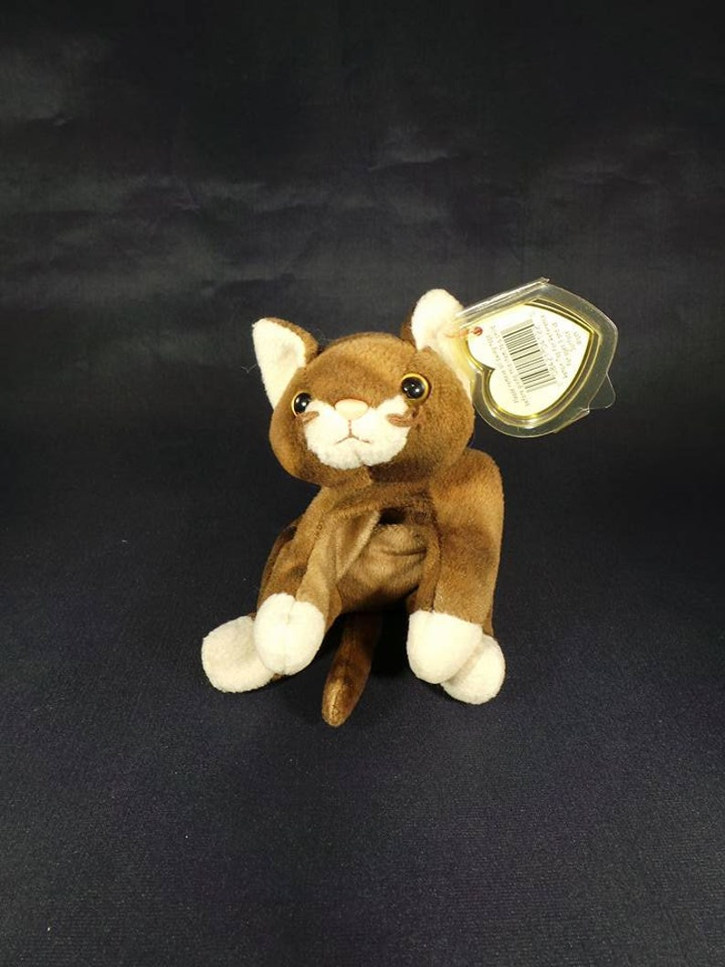 2c0ee047373 1997 Ty Beanie Babies Collection Pounce The Cat