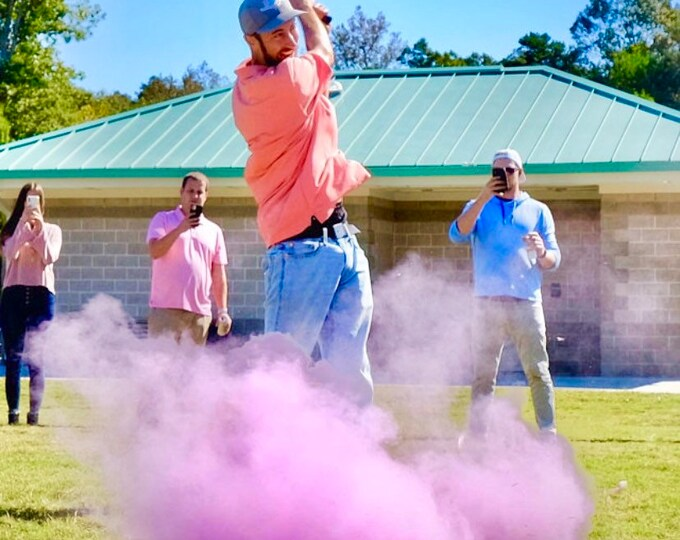 Golf Ball Powder and/or Confetti Gender Reveal Golf Ball Designed with 5x More Powder! Gender Reveal Golf Ball Assorted Colors
