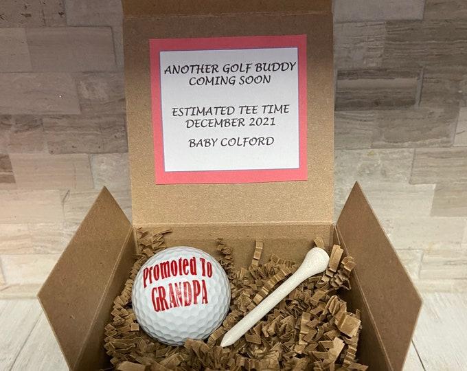 Golf Pregnancy Announcement Grandpa Pregnancy Announcement Baby Announcement Gift Grandparent Pregnancy Announcement