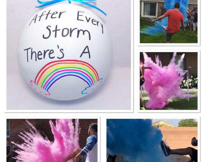 Rainbow Baby Gender Reveal Gender Reveal Rainbow Baby Ball Gender Reveal Ideas Gender Reveal Ball