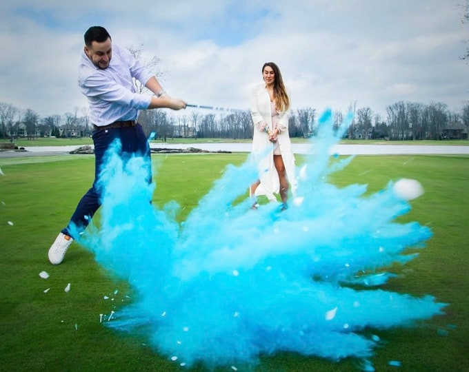 XL Golf Ball Powder and/or Confetti Gender Reveal Golf Ball Designed with 5x More Powder! Gender Reveal Golf Ball Assorted Colors