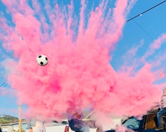 SOCCER BALL Gender Reveal Soccer Ball With Powder And/Or Confetti Pink Blue Green Purple Orange Red Yellow Teal or White