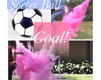 6.25 inch Soccer Ball Gender Reveal Soccer Ball Gender Reveal Ideas Gender Reveal Soccer Black And White