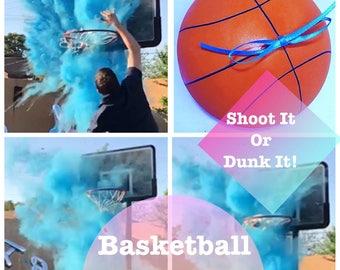 "6.25"" Gender Reveal Basketball Gender Reveal Ideas Gender Reveal Basketball"