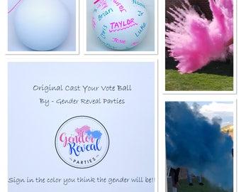 Cast Your Vote Gender Reveal Ball Gender Reveal Ideas Gender Reveal Cast Your Vote Ball
