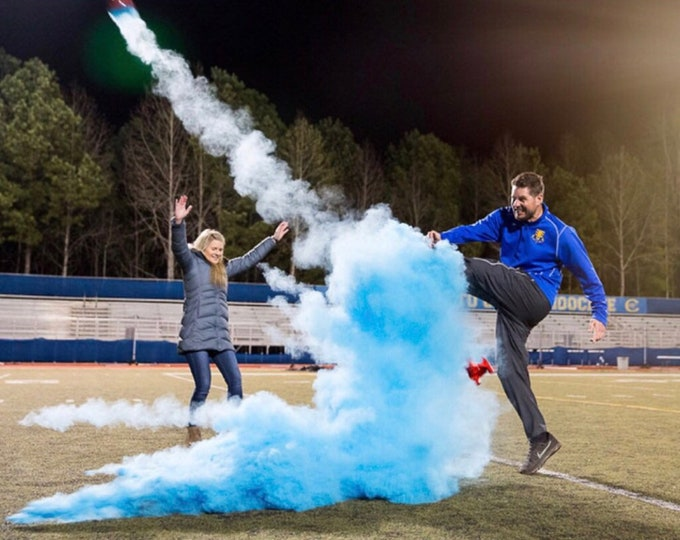 "9"" Powder & Confetti Gender Reveal Football Reveal Ball Gender Reveal Football Ships Same Day"