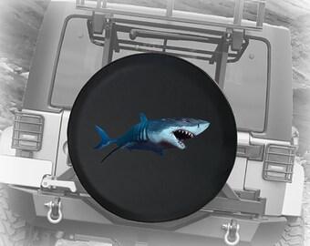Spare Tire Cover Great White Shark /& Ocean Submarine Wrangler RV