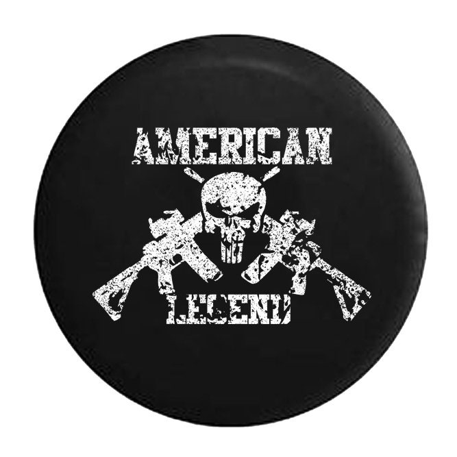 Oscar Mike Military Jeep Star Orange Red Flames Jeep RV Spare Tire Cover Black 30 in American Unlimited