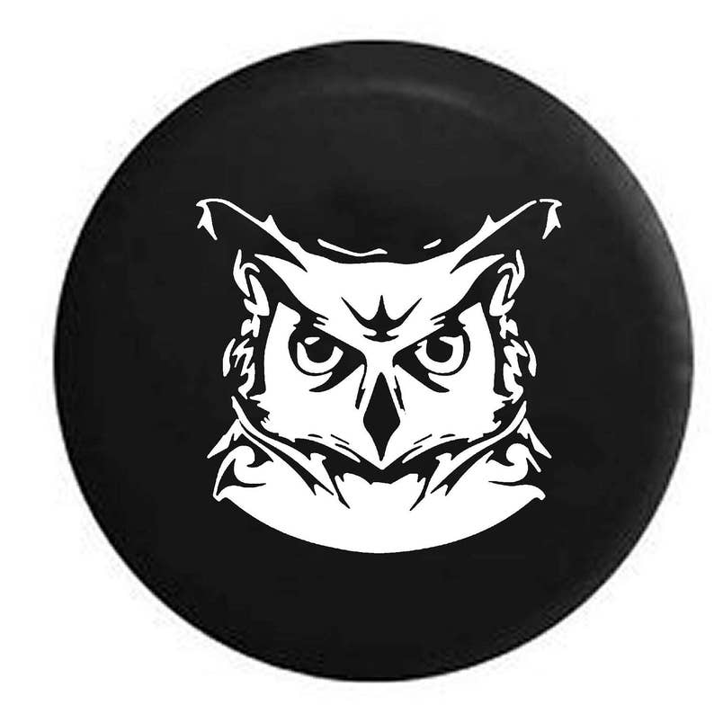staring night owl jeep rv c er spare tire cover multi etsy Pop Up Camper Projects image