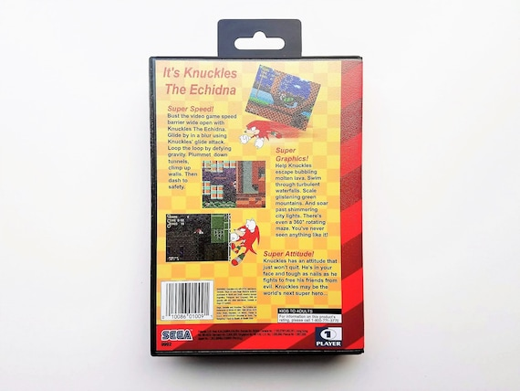 Knuckles Echidna In Sonic The Hedgehog Cart Custom Case Etsy