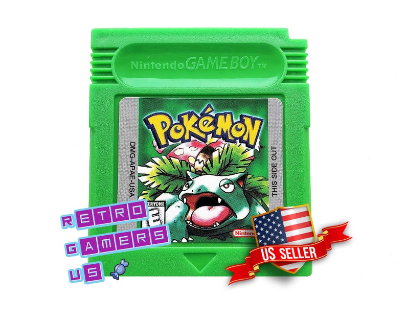 Pokemon Green Version Nintendo Game Boy Color (GBC GBA) - (English Fan  Translation) Gameboy Custom Made