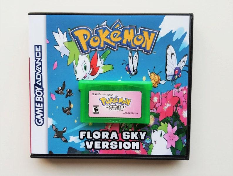 Pokemon Flora Sky Custom Case GBA Gameboy Advance Fan Made Hack