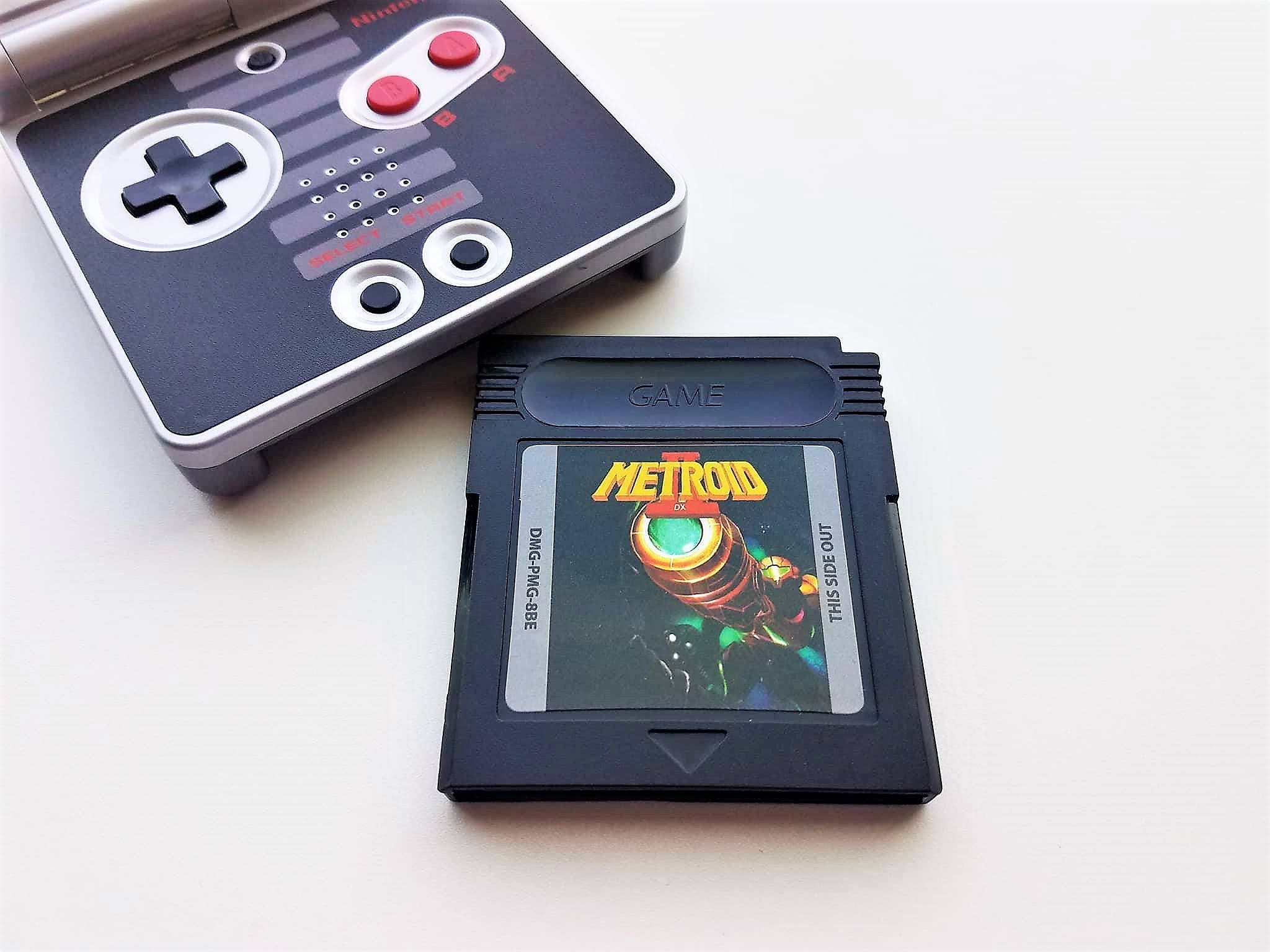 Metroid Ii Dx Nintendo Game Boy Custom Color Upgrade Etsy