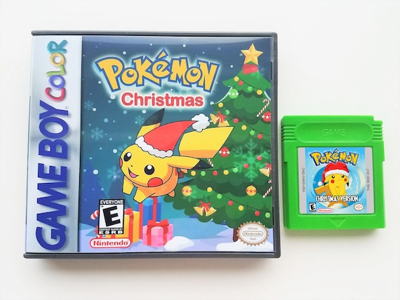 Pokemon Christmas.Pokemon Christmas Version Cart Case Game Boy Color Gbc Homebrew Hack Custom Fan Made Save Battery Works