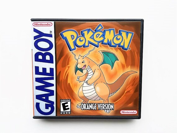 Pokemon Orange Fan Hack Spiel Etui Box Nintendo Game Boy Etsy