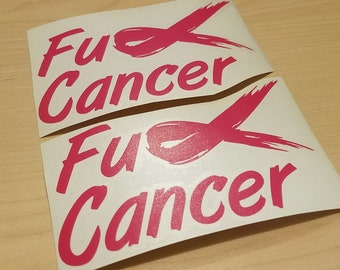 Fuck Cancer Decals   2-Pack