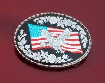 ON SALE! ..Vintage Western Patriotic Belt Buckle #11