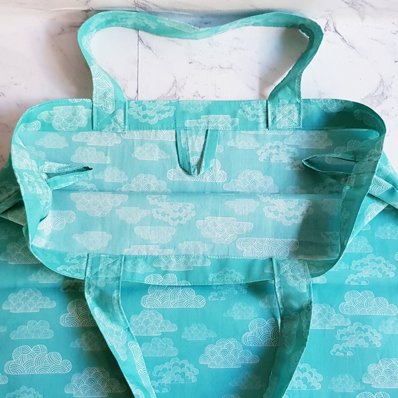 Organic Cotton Shopping BagEco Friendly Shopping BagShopping BagReusable Shopping BagCertified CottonEco Grocery BagTurquoise Bag