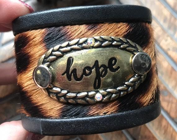Animal Print Hope Cuff
