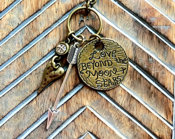 Love Beyond the Moon and the Stars Keychain
