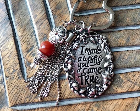 Silver Heart, I made a Wish Keychain