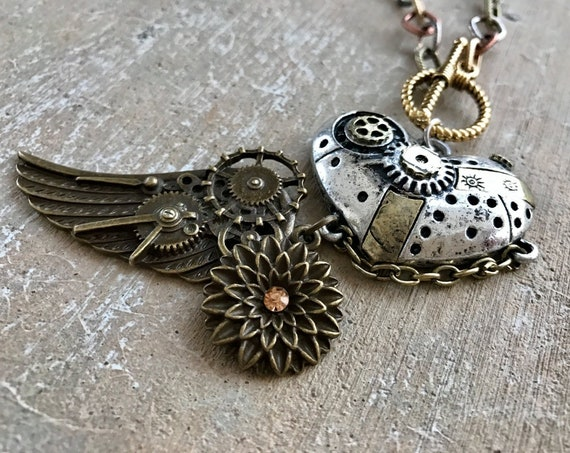 Clockwork Heart Steampunk Choker