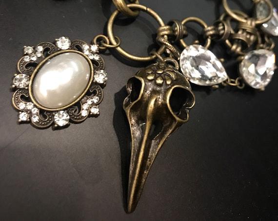 Diamond, Bronze, Pearl, Steampunk, High Fashion Bracelet