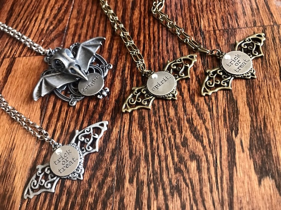 Renaissance, Goth, Halloween Bat Wing, Necklace