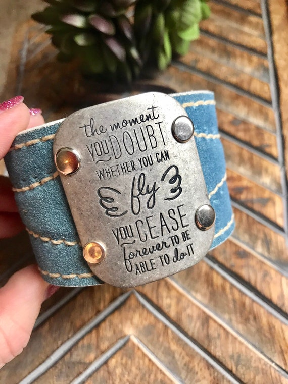 Blue Suade Leather, Motivational Cuff