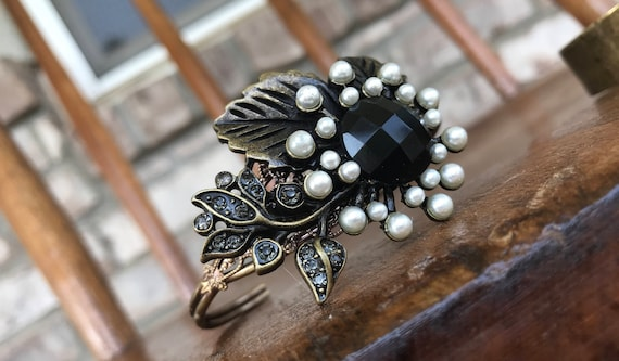 Bronze,Pearl and Black Cuff