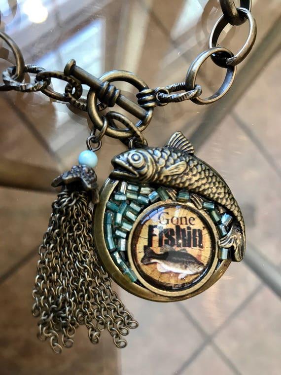 Bronze, Gone Fishin' Bracelet