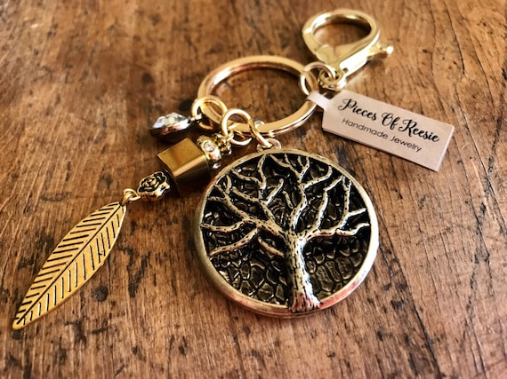 Gold Tree of Life Keychain