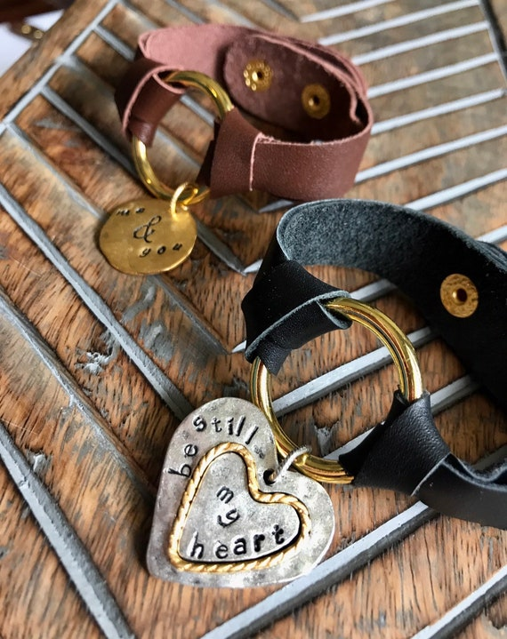 Brown and Gold, Black and Gold, Soft Leather Bracelets.