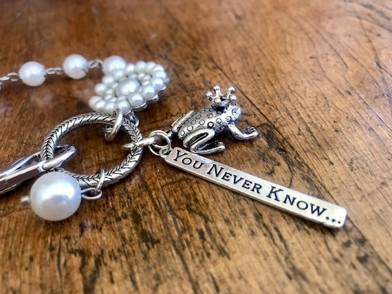 Silver and Pearl, Frog Prince Bracelet