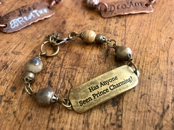 XS Antique Bronze, Metal and Bead Bracelet