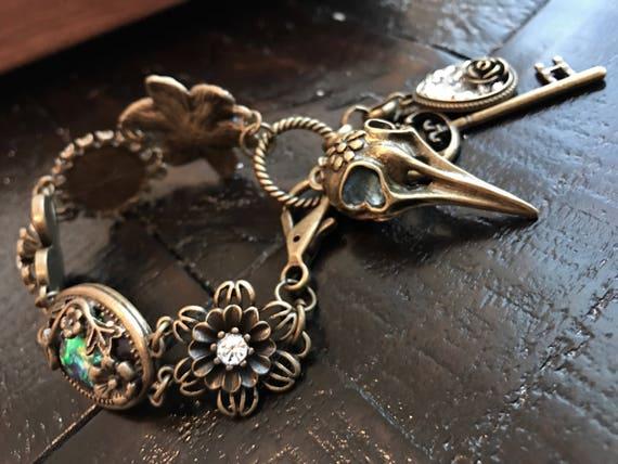 Steampunk, Renaissance, Ornate Bronze Bracelet