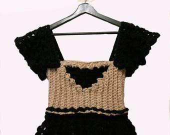 Warm winter crochet ivory corset