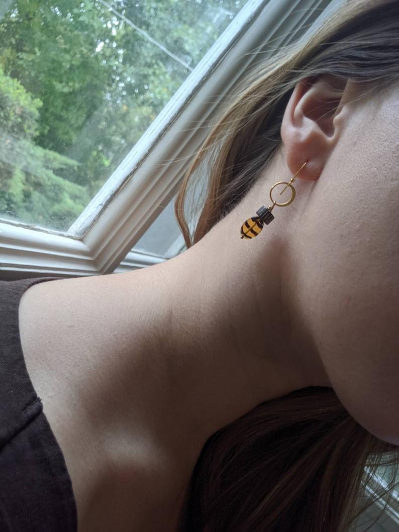 animal print dangly earrings Serengeti Gold Earrings