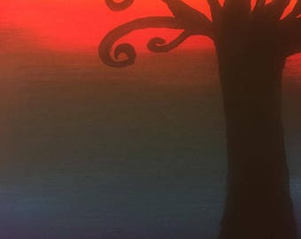 A tree in the sunrise