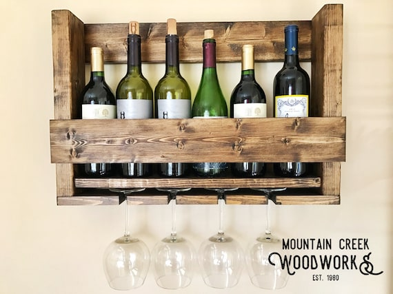 Wine Shelf Wine Rack Wine Glass Rack Wooden Wine Shelf Etsy